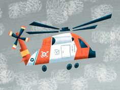 coast guard helo. Artwork for a little boys room if we ever have a little boy.