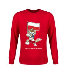 ad2a12a8003 Poland 2018 FIFA World Cup Russia™ Zabivaka Youth Long Sleeve T-Shirt (Red