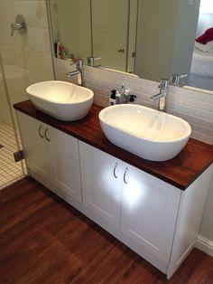 Kiaat bathroom vanity