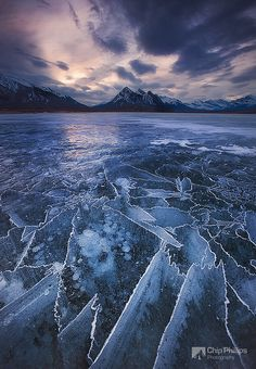 Abraham Lake Ice Puzzle