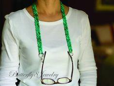 Sunglasses Holder, Chain Messages, Blue Birthday, Eyeglass Holder, Eyeglasses, Eyewear, Etsy Shop, Turquoise, Christmas