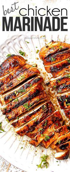 Best Grilled Chicken Marinade, Chicken Marinades, Grilled Chicken Recipes, Grilling Recipes, Beef Recipes, Cooking Recipes, Recipes For The Grill, Easy Recipes, Carlsbad Cravings