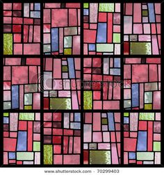 Pink-Toned Stained Glass Window