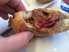 Pat LaFrieda's steak sandwich at the US Open