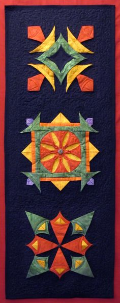 Jennie Rayment: Fizz, Bang, Wallop - It's Textured Piecing! workshop at PIQF 3d Quilts, Small Quilts, Mini Quilts, Origami Quilt, Fabric Origami, Pinwheel Quilt Pattern, Quilt Patterns, Hand Applique, Applique Quilts