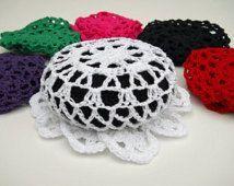BUN COVER 3 inch or 4 inch - Ballet Bun Cover - Crochet Bun Cover - Hair Accessory