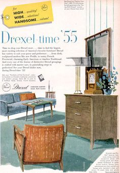 Modern Furniture Ads john van koert drexel furniture counterpoints mid century modern