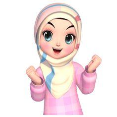 Meet sweet girl Amarena Muslim hijab cute and lovely girl, to cheer up your daily conversation. Hijab Musulman, Muslim Hijab, Teacher Cartoon, School Cartoon, Girl Cartoon Characters, Cute Cartoon Girl, Muslim Pictures, Hijab Drawing, Owl Classroom