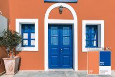 Una combinación que alegrará la fachada de tu hogar.