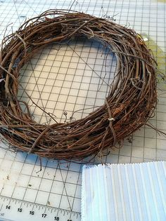 Grapevine Wreath. Gonna make one of these from our own grapevine twigs out back :o)