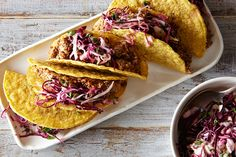 Sounds yummy :: Easy Lentil Walnut Tacos with Cabbage Lime Slaw, a recipe on Food52
