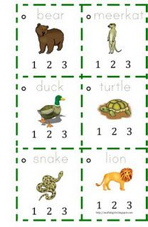 Clap-the-Syllable Animal Printable