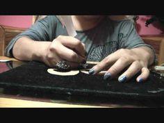 Zarcillos , pendientes o aretes en cartón piedra - YouTube