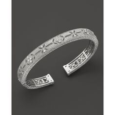 Judith Ripka Estate Cuff with Gothic Stations ($600) ❤ liked on Polyvore