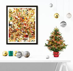 Christmas decorations Print Wall Print Art by DonnaPrintART