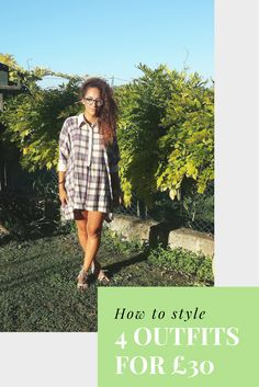 How to style 4 outfits for £30 on https://samanthacarraro.wordpress.com/2016/08/25/everything-5-pounds-look-book/ | Everything 5 pounds | Fashion | Guide | Look Book