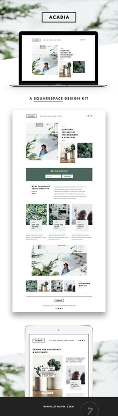 Acadia Squarespace Kit - Inspiration!