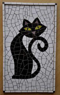 gato mosaico - Pesquisa Google                                                                                                                                                      Más