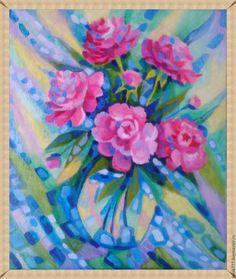 Купить Тонкий аромат нежности - брусничный, картина в подарок, картина, картина маслом, картина с цветами