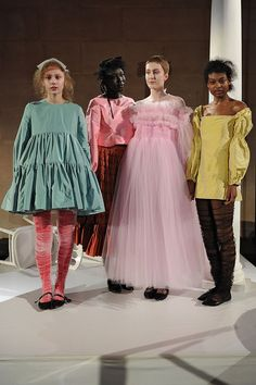 London Fashion Week - Molly Goddard. Why? These girls look like they need to be locked up.