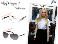 Gafas de acabado metálico. Inspiración: Elle Fanning.