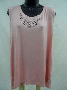 Plus Size 3X EMBELLISHED Top STRETCH Shirt LIGHTWEIGHT Trendy STUDS Summer NWT…