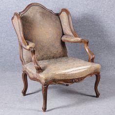 Barock Ausgefallener Rokoko Ohrenbacken Sessel Nussbaum 19 Jh. Accent Chairs, Furniture, Home Decor, Restore, Baroque, Armchair, Tree Structure, Dekoration, Upholstered Chairs