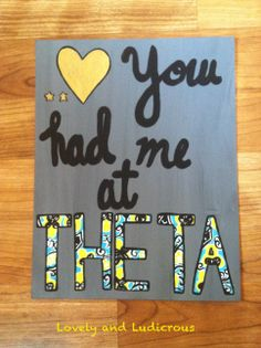 Kappa Alpha Theta Canvas- Various Designs www.etsy.com/shop/LovelyandLudicrous