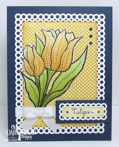 Our Daily Bread Designs Stamp Set: Tulips, Custom Dies: Circle Scalloped Rectangles, Tulips, Pierced Rectangles, Paper Collections: Birthday Brights