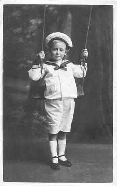 Little boy in white sailor suit ~ 20 June 1913