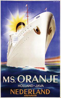 MS. Oranje - Holland-Java - 1936 - (Jean Walther) -