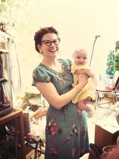 Shauna Leishman-Burnett looks amazing in the Loop Dress in Turquoise Birds with the most adorable little baby!! We are sold out of the Loop Dress but the Paradise Dress in Turquoise Birds is on SALE!!!