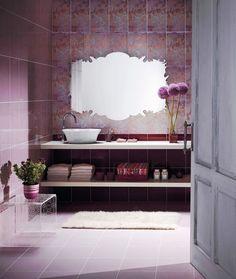 Purple Bathroom Design Ideas | DigsDigs Kid Bathroom Decor, Bathroom Colors, Bathroom Ideas, Bathroom Accents, Bathroom Vanities, Bathroom Rugs, Bathroom Interior, Purple Bathrooms, Lavender Bathroom