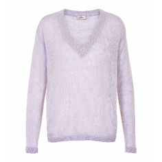 Soaked In Luxury Lilac V-Neck Jumper: This gorgeous v-neck lilac jumper is a Spring time must have. Wear over a shirt or put a little lace camisole top and have the lace detail showing at the neckline. Pair with your jeans to create the perfect Spring look.