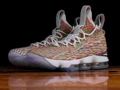 c9bb71f859a7 Fruity Pebbles Nike Lebron 15 Basketball 897648 900 Size 13 White Multi  Newest Shoe