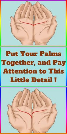 Put Your Palms Together and Pay Attention to This Little Detail ! Put Your Palms Together and Pay Attention to This Little Detail ! Natural Remedies For Allergies, Natural Remedies For Anxiety, Natural Headache Remedies, Natural Cures, Natural Health, Palmistry, Everything Is Awesome, Tips & Tricks, Yoga Quotes