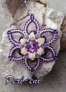 Beautiful Beads Flower - utrolig flot vedhæng i lilla - skal laves