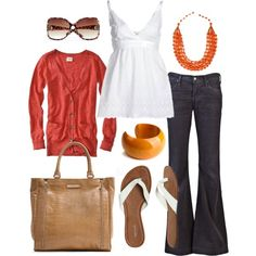 reds & oranges, created by #htotheb on #polyvore. #fashion #style SECOND FEMALE Citizens of Humanity