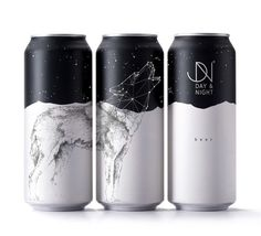 Black & White. Wolf. // Packaging Archives - leManoosh