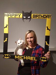 Custom Photo Frame - Batman - PhotoBooth - Party - Birthday Superhero by GlitterAsana on Etsy
