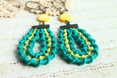 Turquoise Earrings/Gypsy Boho Earrings / Hippie by byHamelin