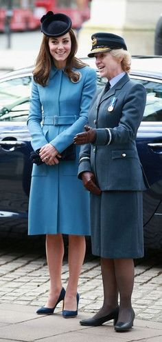 February 7th - This marked Kate's first engagement as Honorary Air Commandant of the organisation. In December, the Duke of Edinburgh (Prince Phillip) passed his patronage of the RAF Air Cadets to Kate, after 63 years serving as Air Commodore-in-Chief. This is the first of a series of appearances on behalf of the cadets that Kate will do throughout the year.