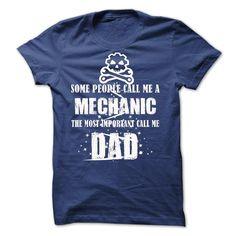 Mechanic Dad T Shirt