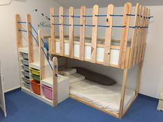 Hottest Absolutely Free Wall Decor Ideas Tips An Ikea kids' room remains to. - Hottest Absolutely Free Wall Decor Ideas Tips An Ikea kids' room remains to amaze the children - Toddler Bunk Beds Ikea, Toddler Rooms, Ikea Kids Room, Kids Bedroom, Lego Bedroom, Diy Bed, Bed Ikea, Ikea Bunk Bed Hack, Kura Hack