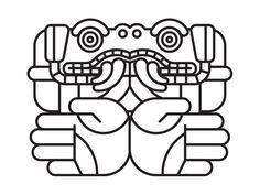 Coatlicue icon line art vector art aztec coatlicue Aztec Symbols, Viking Symbols, Viking Runes, Egyptian Symbols, Ancient Symbols, Mayan Glyphs, American Indian Tattoos, Aztec Culture, Line Art Vector