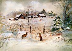 Winter at Corgi Cottage, by Tasha Tudor
