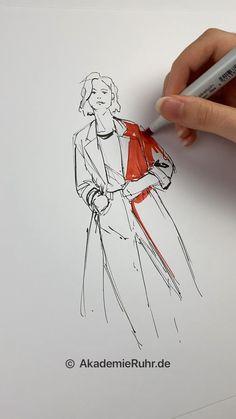 Fashion Model Sketch, Fashion Design Sketchbook, Fashion Design Drawings, Fashion Sketches, Fashion Drawing Tutorial, Fashion Figure Drawing, Fashion Illustration Collage, Fashion Illustration Tutorial, Croquis Fashion