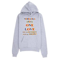 H WASHINGTON Area Code ONE LOVE HOODIE - Area code 531