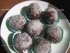 Trufas de chocolate blanco y coco