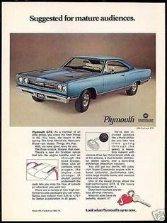 Plymouth GTX 440 Car Photo Print Vintage Car (1969) #VintageCars
